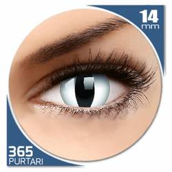 Fancy Snake Eye - lentile de contact colorate albe anuale - 360 purtari (2 lentile/cutie)