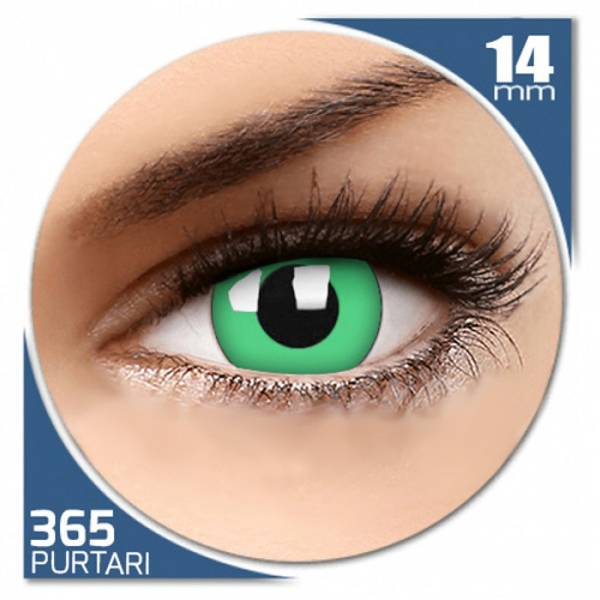Phantasee Fancy Green - lentile de contact colorate verzi anuale - 360 purtari (2 lentile/cutie)