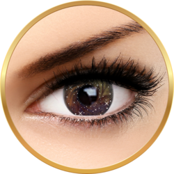 Fashion Lentilles Galaxy Brown - lentile de contact pentru Halloween anuale - 365 purtari (2 lentile/cutie)