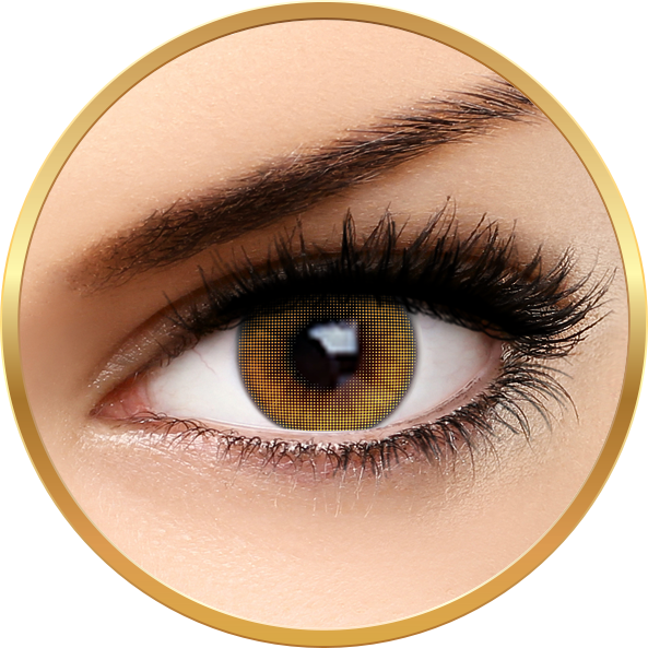 Fashion Lentilles Mood Brown - lentile de contact pentru Halloween anuale - 365 purtari (2 lentile/cutie)