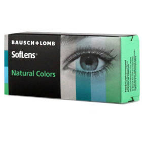Bausch & Lomb Soflens Natural Colors Aquamarine - lentile de contact colorate verzi lunare - 30 purtari (2 lentile/cutie)