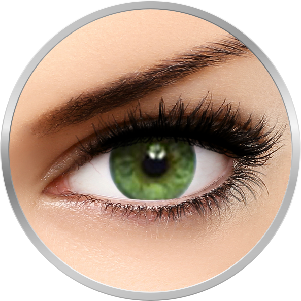 Soflens Natural Colors Emerald - lentile de contact colorate verzi lunare - 30 purtari (2 lentile/cutie)