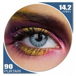 Edit Solar Blue - lentile de contact colorate albastre trimestriale - 90 purtari (2 lentile/cutie)