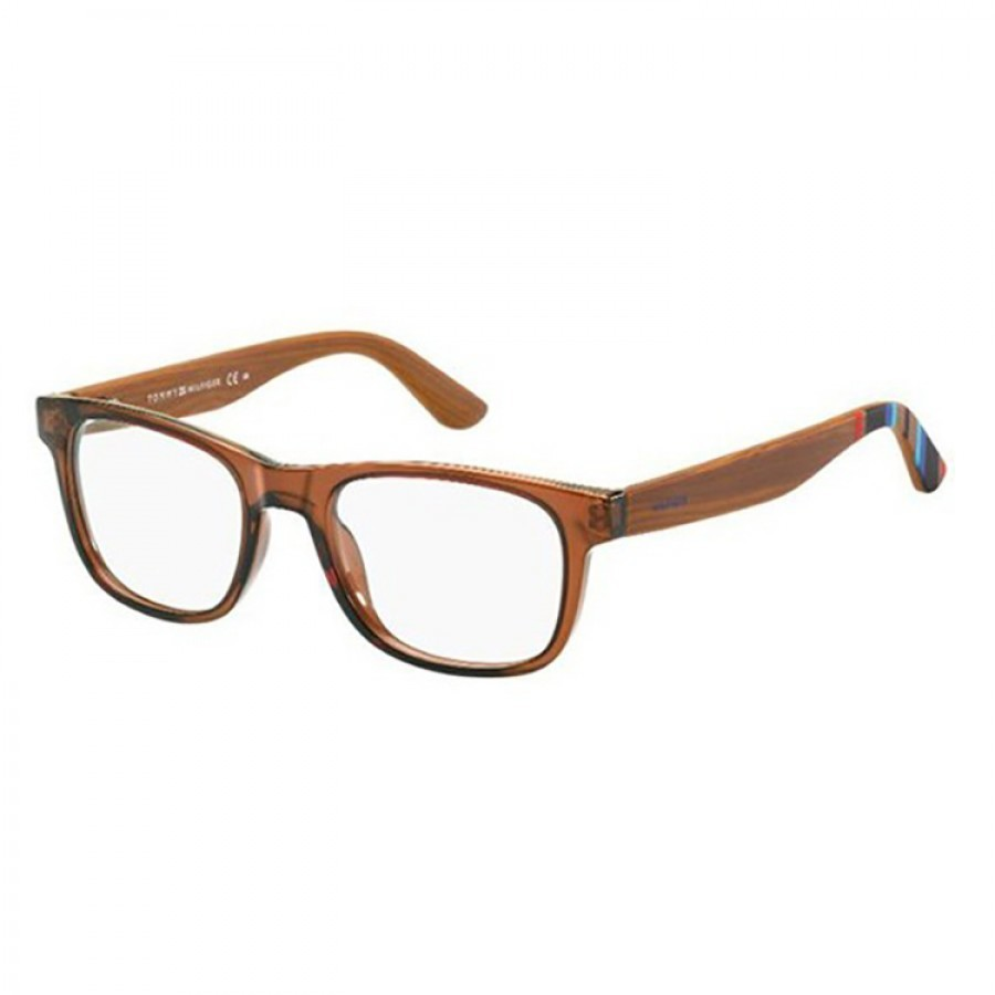 Rame ochelari de vedere unisex TOMMY HILFIGER (S) TH1314 X3R BROWN WOOD 50