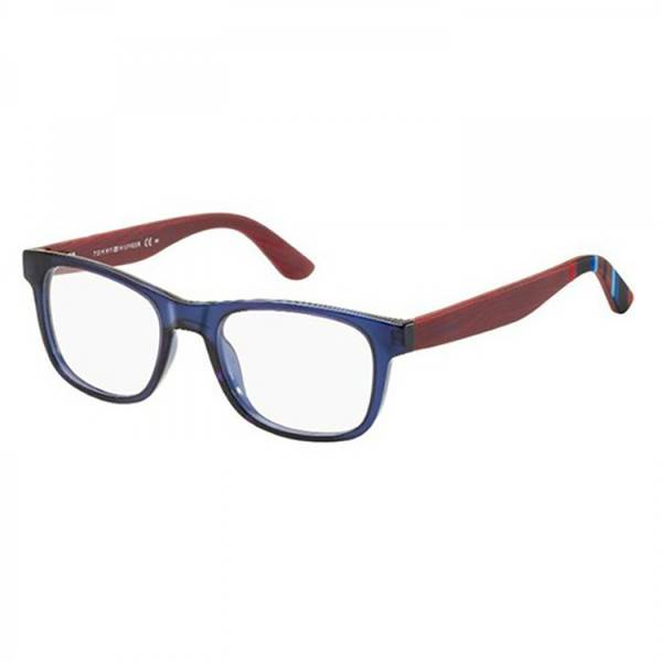 Rame ochelari de vedere unisex TOMMY HILFIGER (S) TH1314 X3W BLUE RED WOOD 50