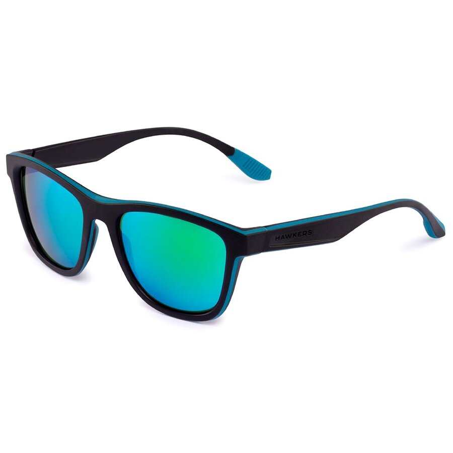 Ochelari de soare unisex Hawkers Sport Polarized Black Green Rubber Emerald ONE S 140002