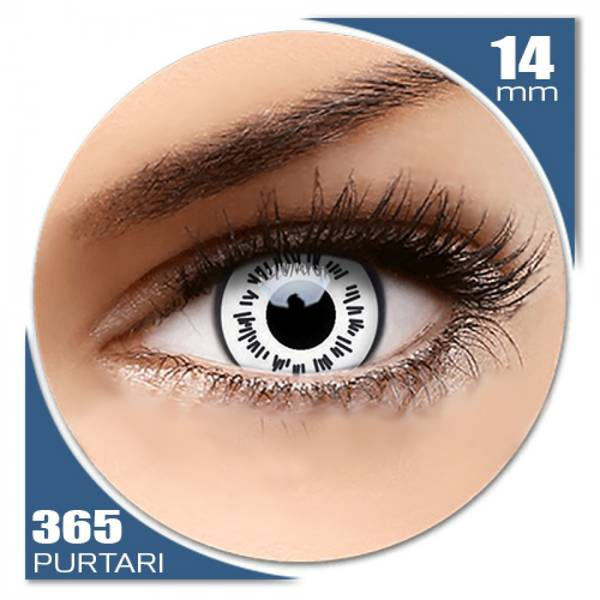 ColourVUE Crazy Byakugan - lentile de contact colorate albe anuale - 360 purtari (2 lentile/cutie)