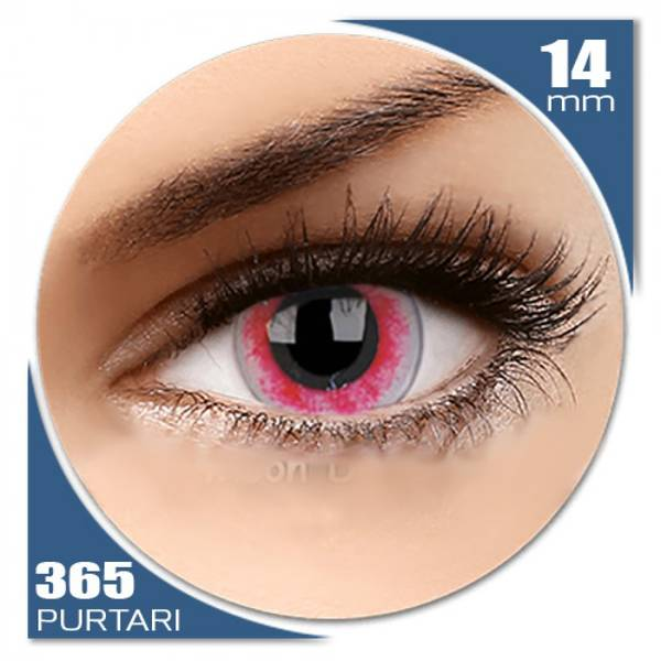 ColourVUE Crazy Moon Diablo - lentile de contact colorate roz anuale - 360 purtari (2 lentile/cutie)