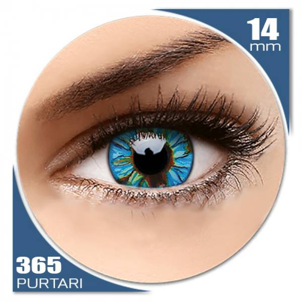 ColourVUE Crazy Blue Streak - lentile de contact colorate verzi/albastre anuale - 360 purtari (2 lentile/cutie)