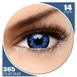 Fancy UV Drax - lentile de contact colorate albastre anuale - 360 purtari (2 lentile/cutie)