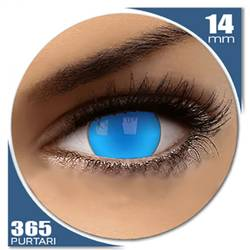 Fancy UV Electric Blue - lentile de contact colorate albastre anuale - 360 purtari (2 lentile/cutie)