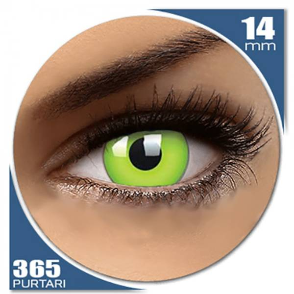 Phantasee Fancy UV Green - lentile de contact colorate verzi anuale - 360 purtari (2 lentile/cutie)