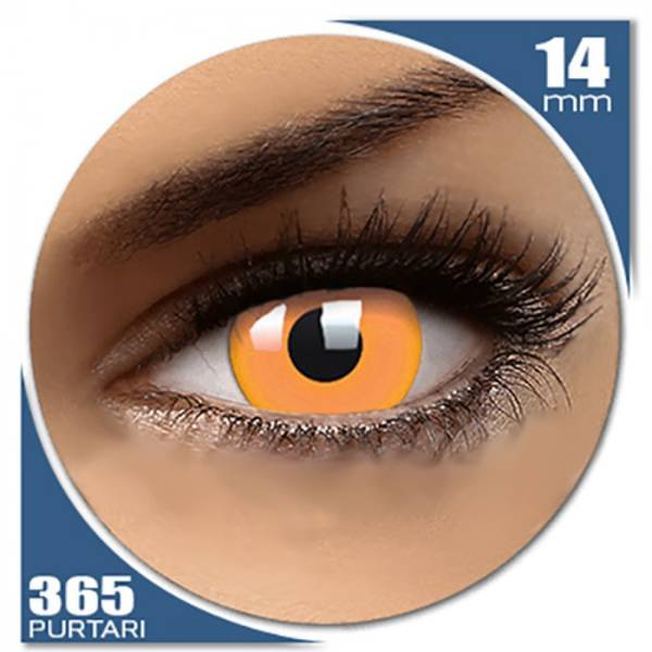 Phantasee Fancy UV Orange - lentile de contact colorate portocalii anuale - 360 purtari (2 lentile/cutie)