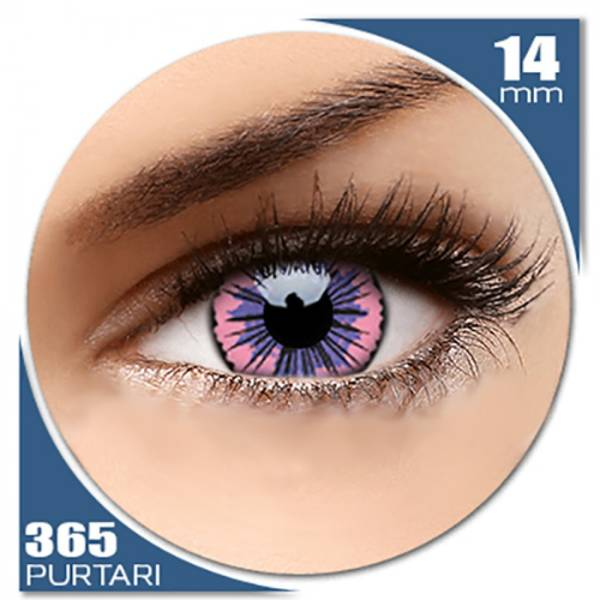 Phantasee Fancy UV Pink Jubilee - lentile de contact colorate roz anuale - 360 purtari (2 lentile/cutie)