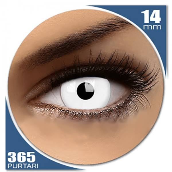 Phantasee Fancy UV White - lentile de contact colorate albe anuale - 360 purtari (2 lentile/cutie)