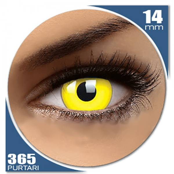 Phantasee Fancy UV Yellow - lentile de contact colorate galbene anuale - 360 purtari (2 lentile/cutie)