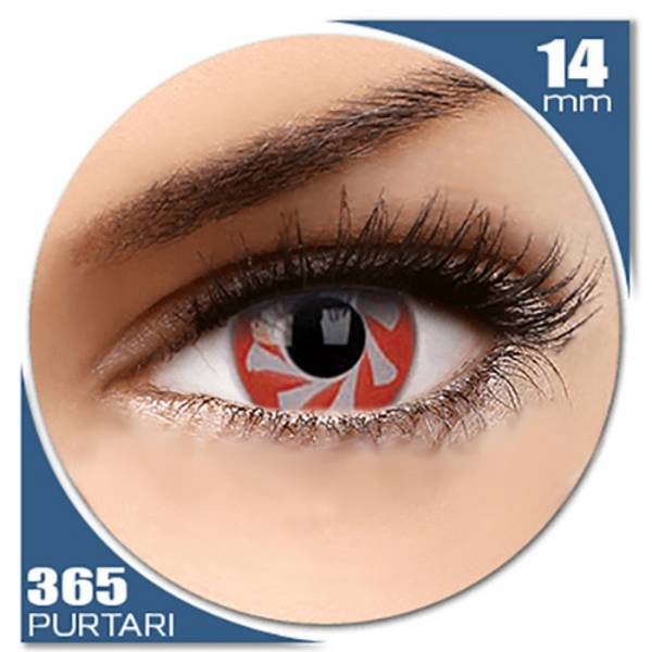 Phantasee Fancy Red Spin - lentile de contact colorate rosii anuale - 360 purtari (2 lentile/cutie)