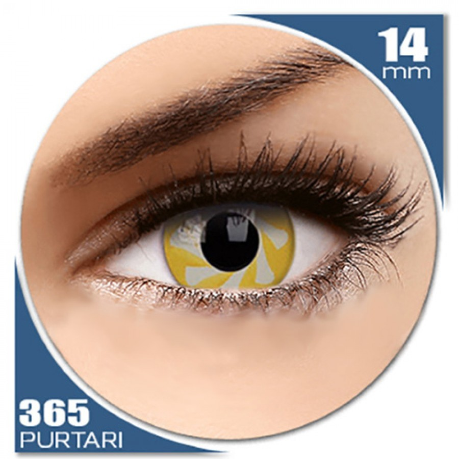 Fancy Yellow Spin – lentile de contact colorate galbene anuale – 360 purtari (2 lentile/cutie) de la MaxVue Vision