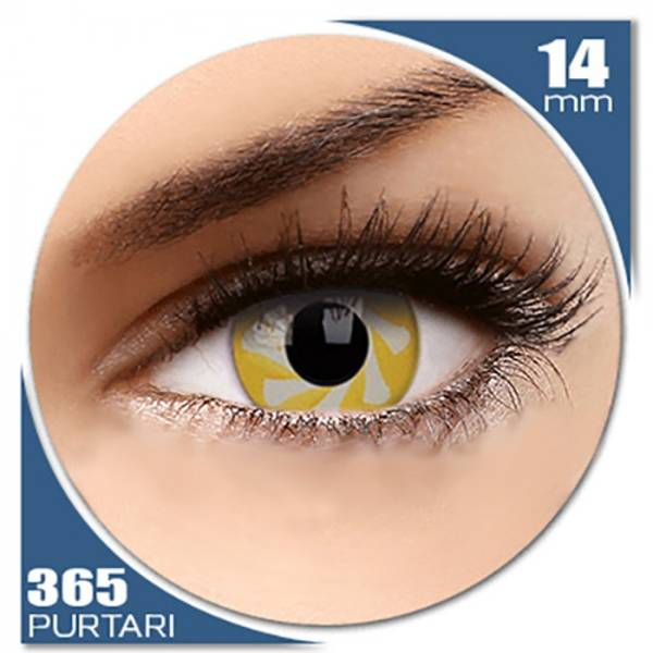MaxVue Vision Fancy Yellow Spin - lentile de contact colorate galbene anuale - 360 purtari (2 lentile/cutie)