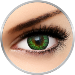 Phantasee Enchanter Green - lentile de contact colorate verzi trimestriale - 90 purtari (2 lentile/cutie)