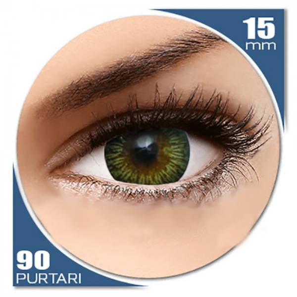 MaxVue Vision Enchanter Brown - lentile de contact colorate verzi trimestriale - 90 purtari (2 lentile/cutie)
