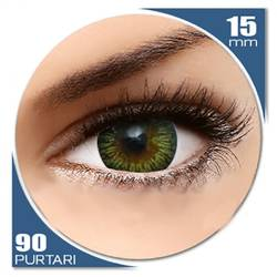 Enchanter Brown - lentile de contact colorate verzi trimestriale - 90 purtari (2 lentile/cutie)