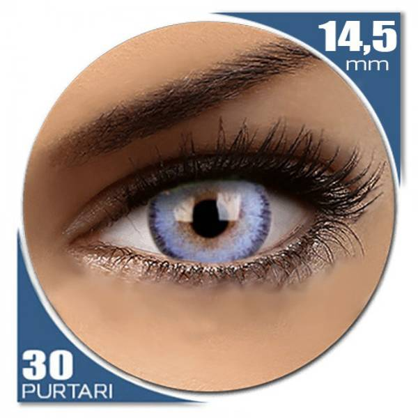 ColourVUE Fizzy Wavvy Blue - lentile de contact colorate albastre lunare - 30 purtari (2 lentile/cutie)