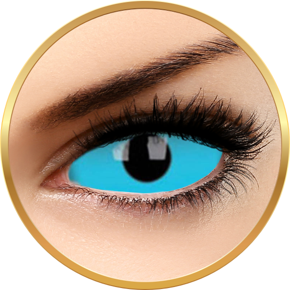 ColourVUE Sclera Blue Nemo - lentile de contact colorate albastre anuale - 185 purtari (2 lentile/cutie)
