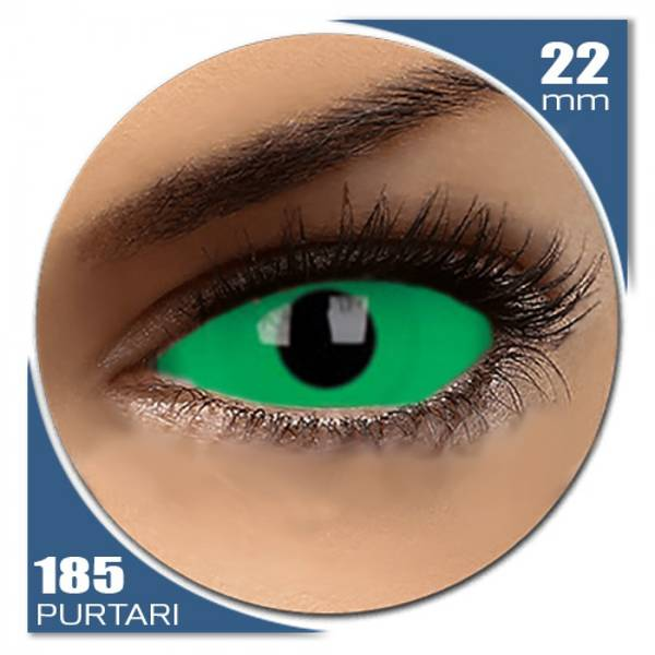 ColourVUE Sclera Cynosure - lentile de contact colorate verzi anuale - 185 purtari (2 lentile/cutie)