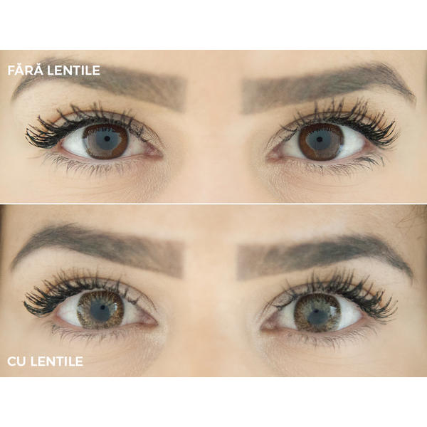 Phantasee Mellow Caffein Brown - lentile de contact colorate caprui trimestriale - 90 purtari (2 lentile/cutie)