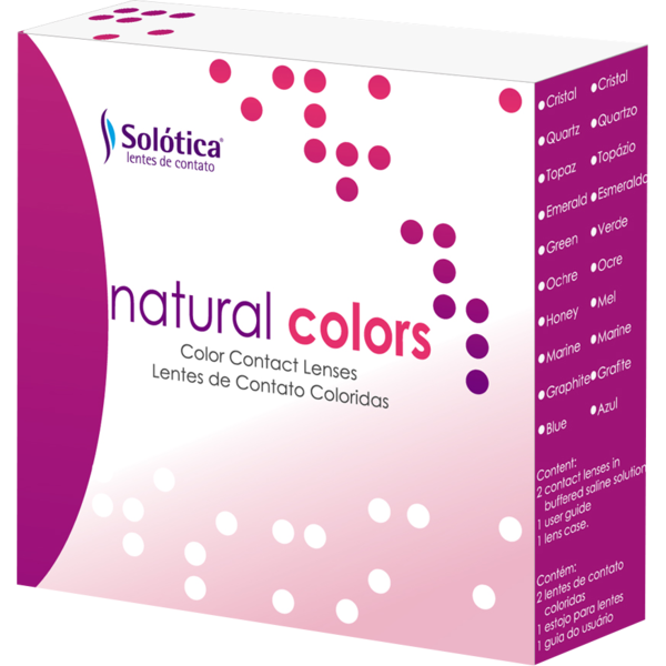 Solotica Natural Colors Verde - lentile de contact colorate verde intens anuale - 365 purtari (2 lentile/cutie)