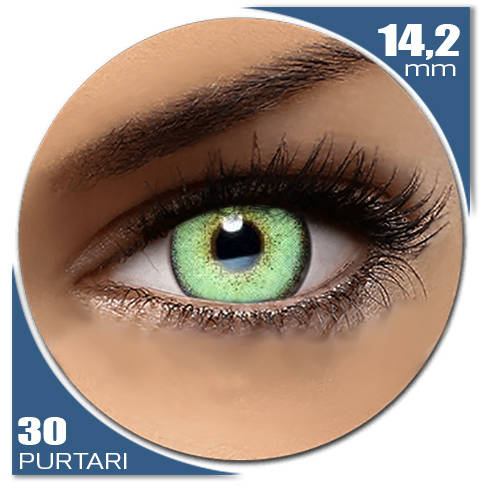 Auva Vision Fashion Lentilles Diamonds GREEN TEA 30 purtari