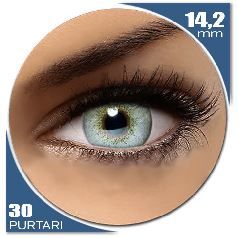 Natural SOFT BLUE 30 purtari de la Auva Vision Fashion Lentilles