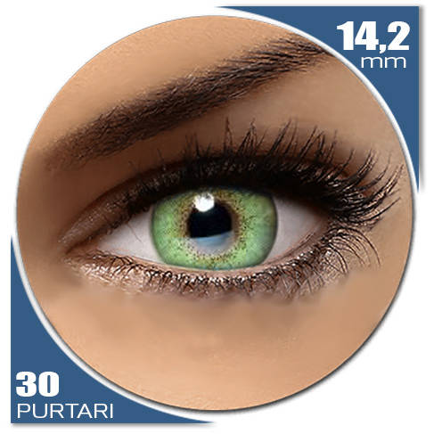 Auva Vision Fashion Lentilles Natural SOFT GREEN 30 purtari