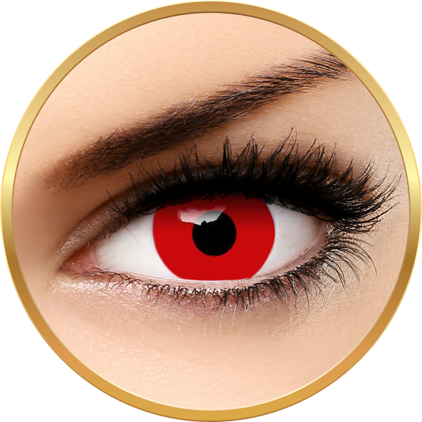 Auva Vision Crazy Halloween Red Out - lentile de contact pentru Halloween anuale - 365 purtari (2 lentile/cutie)