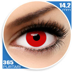 Crazy Halloween Red Out - lentile de contact pentru Halloween anuale - 365 purtari (2 lentile/cutie)