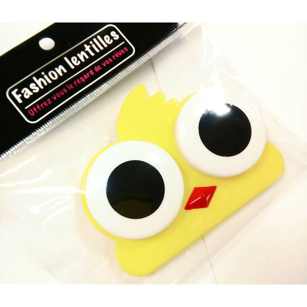 Auva Vision Fashion Lentilles Suport pentru lentilele de contact pasare Yellow Bird