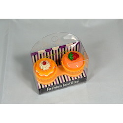 Suport pentru lentilele de contact Cup Cake Orange de la Auva Vision Fashion Lentilles