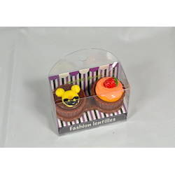 Auva Vision Fashion Lentilles Suport pentru lentilele de contact Cup Cake Chocolate