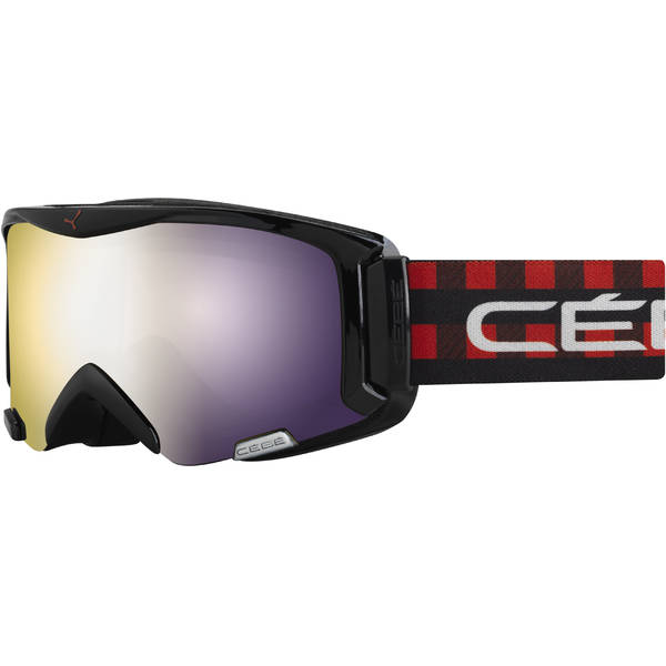 Ochelari de ski pentru copii Cebe SUPER BIONIC RED SQUARE-LIGHT ROSE & FLASH GOLD