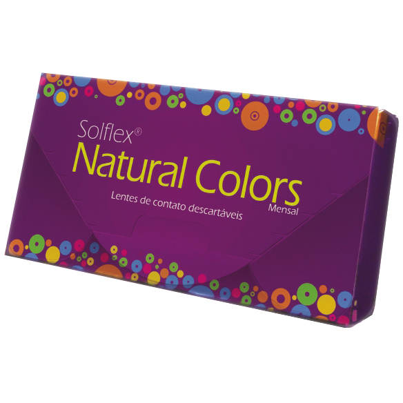 Solotica Solflex Natural Colors Mel - lentile de contact colorate verzi lunare - 30 purtari (2 lentile/cutie)