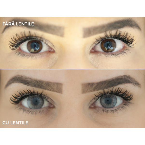 ColourVUE 3 Tones Ash - lentile de contact colorate gri trimestriale - 90 purtari (2 lentile/cutie)