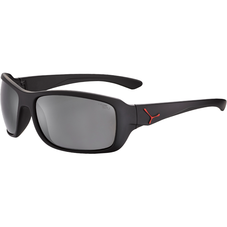 CEBE Ochelari de soare barbati Cebe HAKA L BLACK RUBBER FINISH RED 1500 GREY POLARIZED AR FM