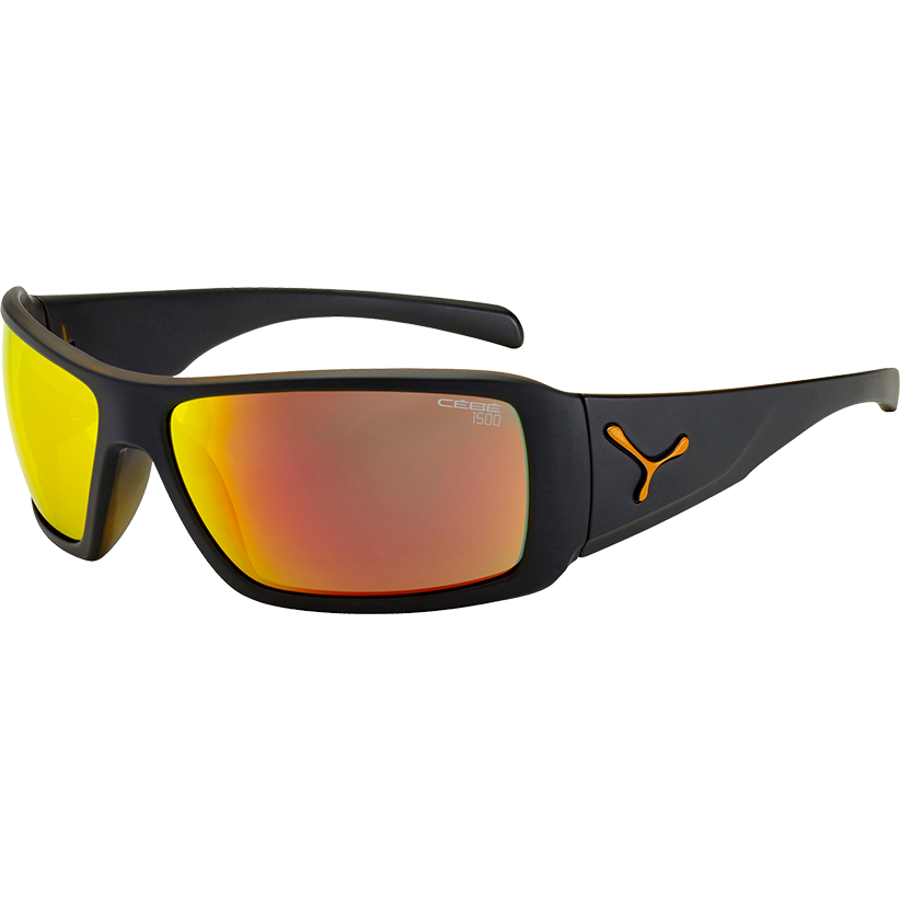 CEBE Ochelari de soare barbati Cebe UTOPY MATT BLACK ORANGE 1500 GREY FM ORANGE