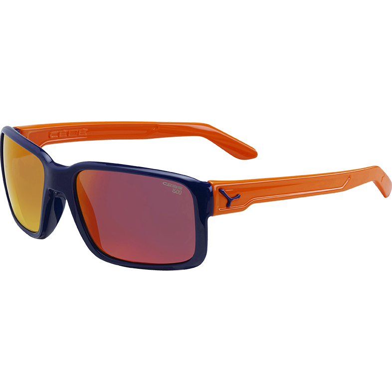 CEBE Ochelari de soare barbati Cebe DUDE SHINY BLUE ORANGE 1500 GREY FM ORANGE