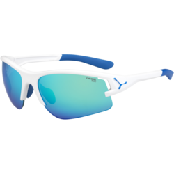 Ochelari de soare sport unisex Cebe ACROSS MATT WHITE BLUE 1500 GREY FM BLUE + 500 YELLOW