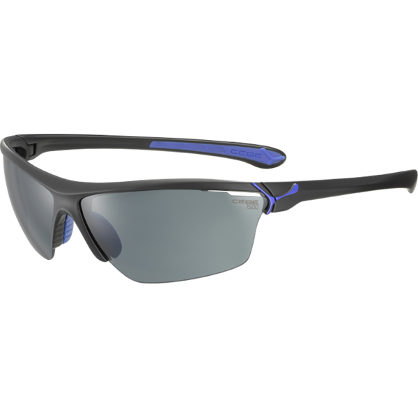 Ochelari de soare sport barbati Cebe CINETIK MATT BLACK ROYAL BLUE 1500 GREY + CLEAR + YELLOW