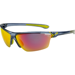 Ochelari de soare sport barbati Cebe CINETIK MATT TRANSLUCID BLUE 1500 GREY MULTILAYER + CLEAR + YELLOW