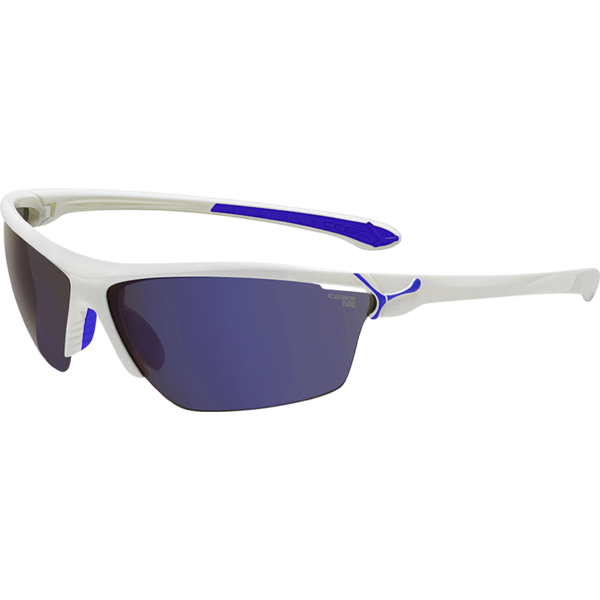 Ochelari de soare sport barbati Cebe CINETIK SHINY WHITE BLUE 1500 GREY FLASH + CLEAR + YELLOW
