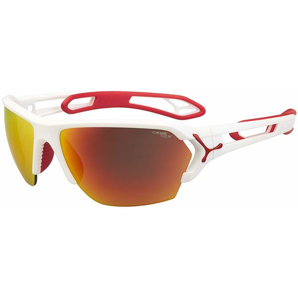 Ochelari de soare sport barbati Cebe S'TRACK LARGE MATT WHITE RED 1500 GREY AF ORANGE FM + 500 CLEAR AF CBSTL11